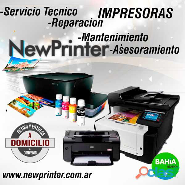 Reparacion impresoras bahia blanca new printer