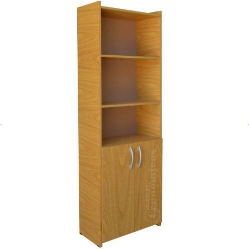 Biblioteca con puertas melamina armada estantería armario