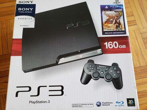 Ps3 playstation 3 160gb + joysticks + 4 juegos + base carga