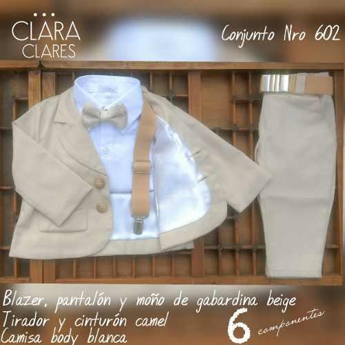 Conjunto de bautismo cumpleaños clara clares ropa bebe
