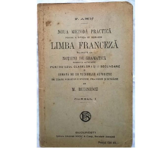 Libro de estudio del francés en rumano limba franceză f