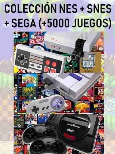 Colección nes + snes + sega (+5000 juegos) pc digital