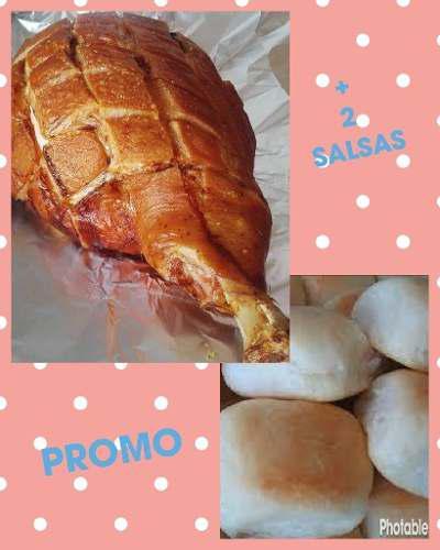 Pata de cerdo + 100 panes + 3 salsas