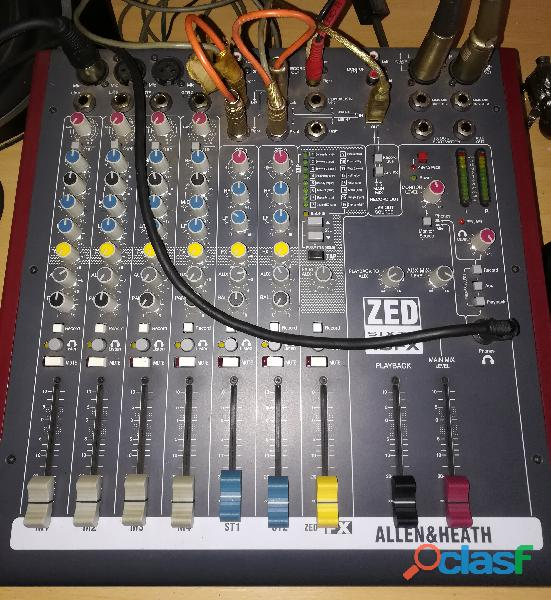 Consola allen and heath zed60 10fx mixer