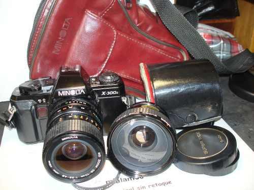 Reflex minolta x300 lente minolta y wide sakar gtia 4 meses