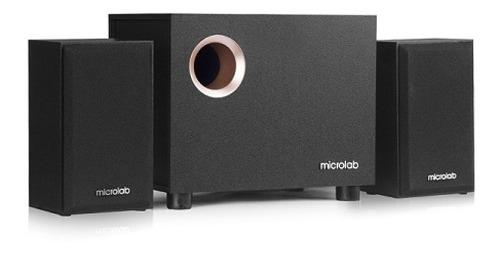 Parlantes multimedia 2.1 microlab m105 3.5mm 2rca small size