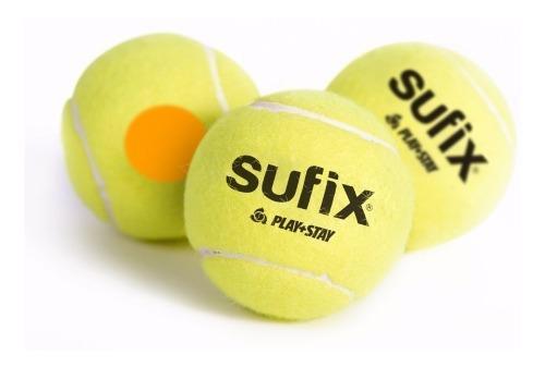 Pelotas de mini tenis sufix etapa naranja tubo x3 pelotas