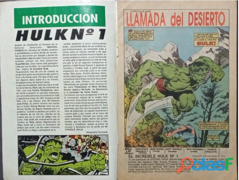 """Comic de """"El increible Hulk"""" Edición Argentina n°1 1"""