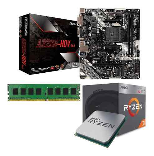 Combo actualizacion pc mother micro memoria 8gb amd ryzen