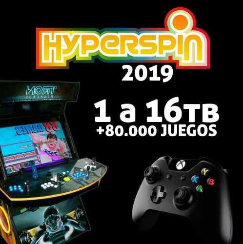 Hyperspin arcade 2019 pc 1tb +33.000 juegos +141 sistemas