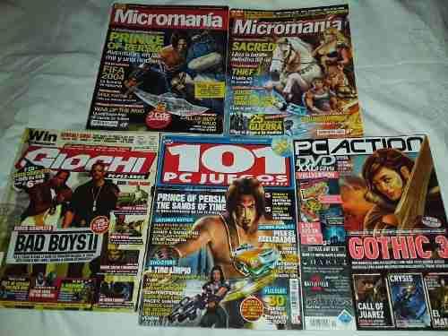 Revistas videojuegos micromania/pcjuegos/pcaction/win x 5 un