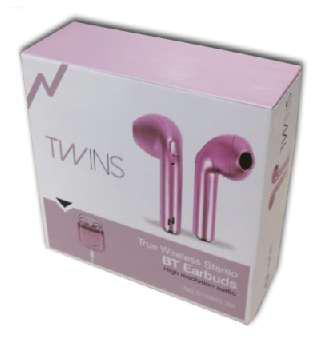 Auriculares bluetooth noganet pink
