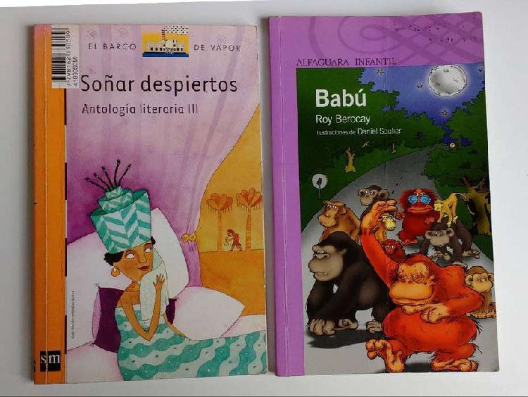 Barracas - lote 2 libros el barco de vapor soñar despiertos