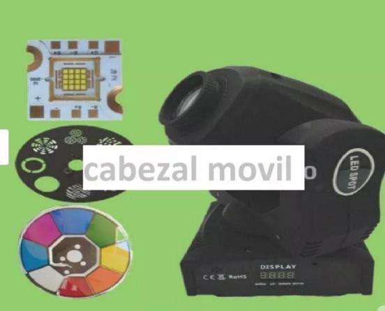 Cabezal movil de 60w con 8 diferentes colores figuras led
