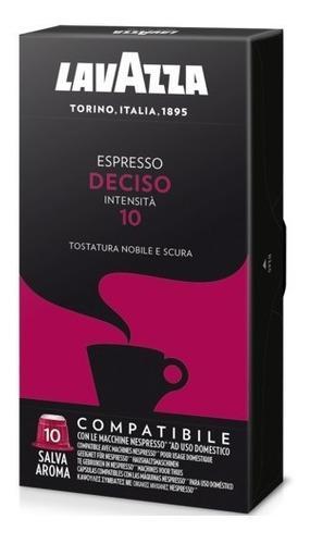 Café lavazza cápsulas deciso ricco x 10 compatible