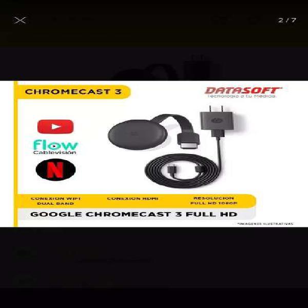 Chromecast 3ra generación. de google.