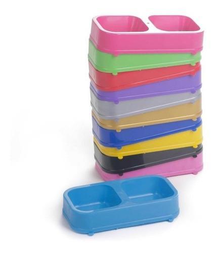 Comedero doble rectangular pets plast