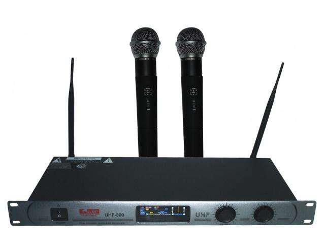 Micrófono inalámbrico doble mano uhf 300 super oferta !!!