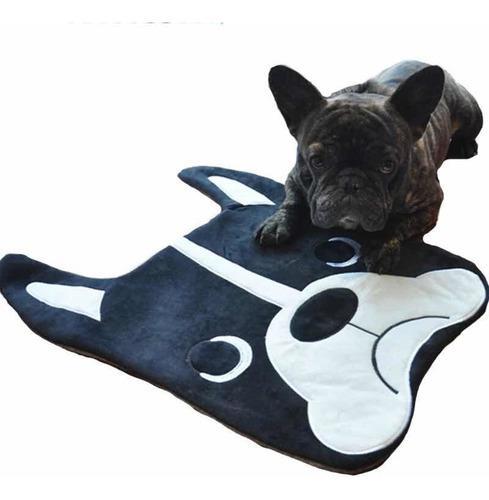 Mini tapete/cama para mascota diseño bulldog frances