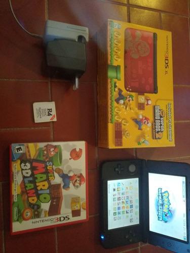 Nintendo 3ds xl flasheada+1 original+ r4(para jueg ds) leer