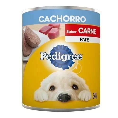 Pedigree lata cachorro carne pate 340 gr mascota food