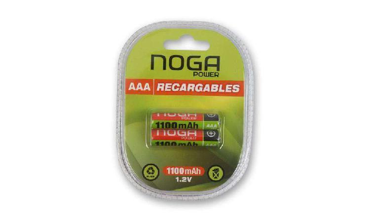 Pilas recargables aaa 1100 mah ni-mh x 2 unidades en blister