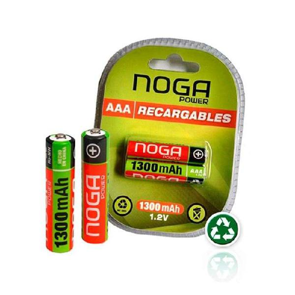 Pilas recargables aaa 1300 mah ni-mh x 2 unidades en blister