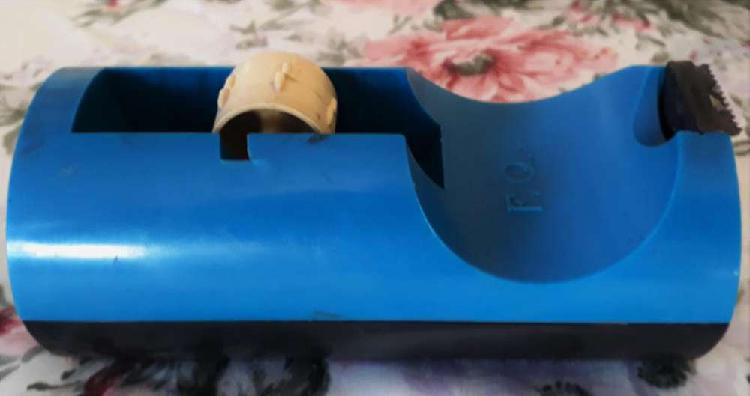 Porta rollo cinta adhesiva chica 25 mts x 19 mm f.q.