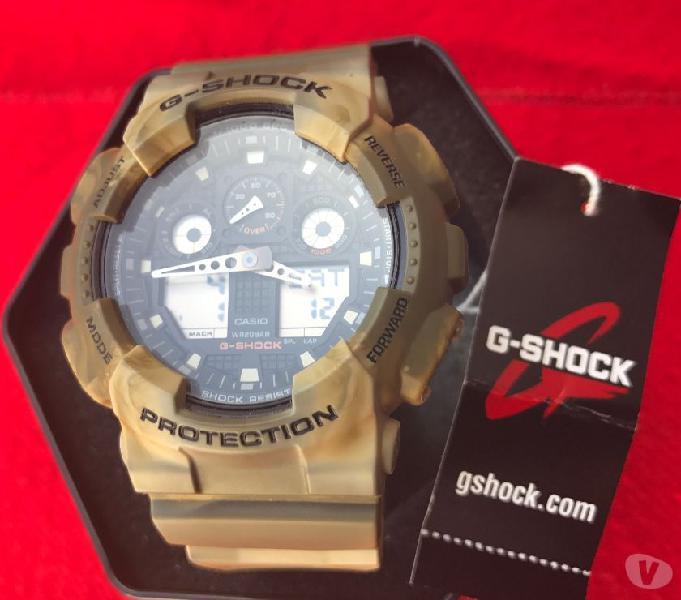 Reloj casio gshock ga 100mm5a 5081 camocajamanual nuevo
