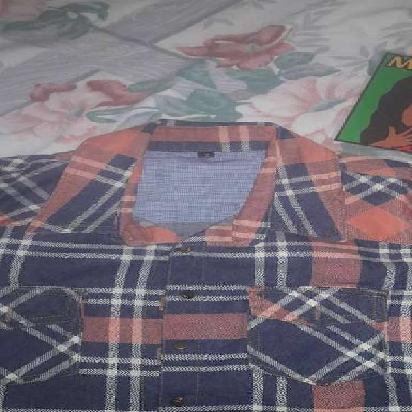 Camisa tela rustica talle s grande