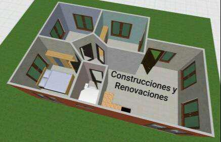 Construcción de casas de material tradicional o