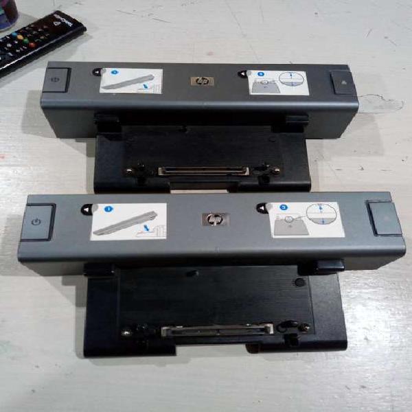 Docking stations para notebook hp funcionando y con fuentes.