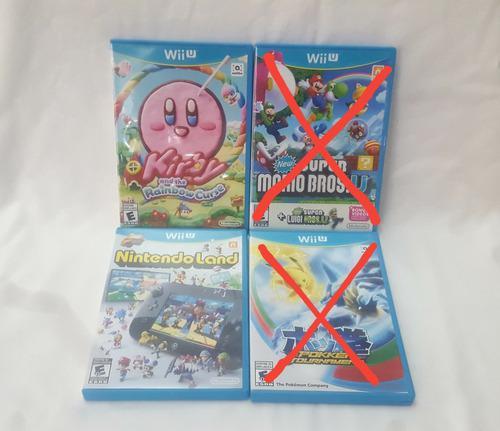 Nintendo wii u juegos kirby super mario luigi pokemon land