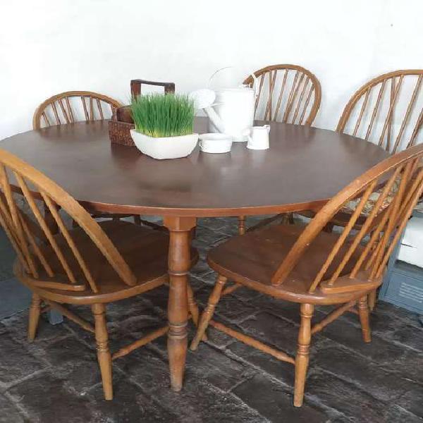 Antigua mesa windsor madera roble (sin sillas)