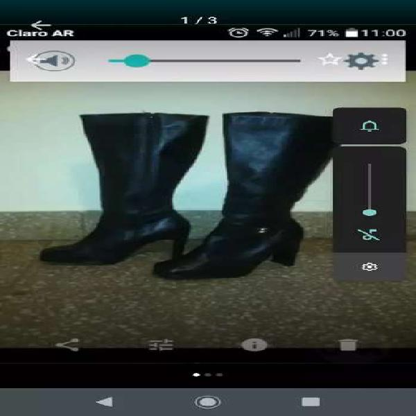 Botas de cuero negras n 35
