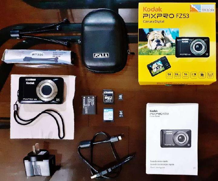 "Camara digital kodak pixpro fz53 + accesorios ""excelente"