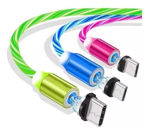 Cable magnetico iman cargador micro usb pin de carga samsung