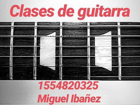 Clases de guitarra (eléctrica y criolla)