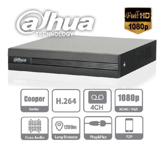 Dvr 4 canales dahua xvr1a04 - 1080n (1-25/30fps) - 2mpx -