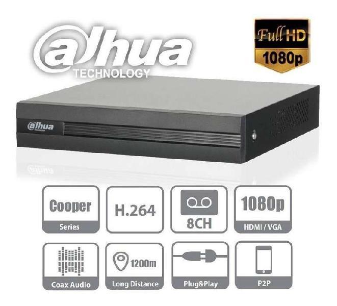 Dvr 8 canales dahua xvr1a08 1080n/720p 1 audio - 8+2 camaras