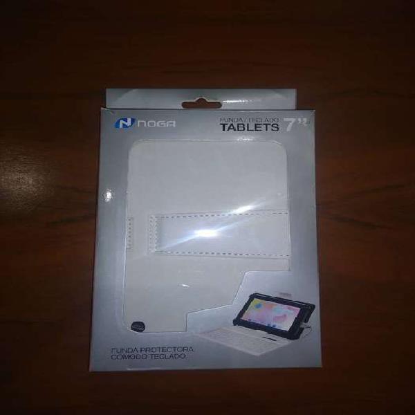 Funda con teclado para tablet 7`