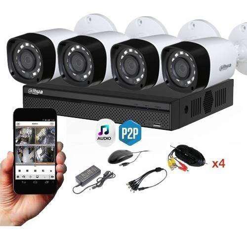 Kit seguridad dahua full hd dvr 4 + 4 camaras infrarrojas