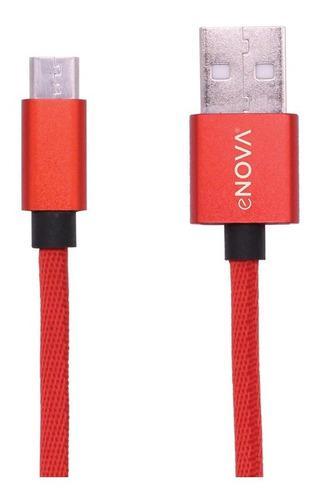 Cable micro usb tela carga 2 amper y datos 2 metros envio