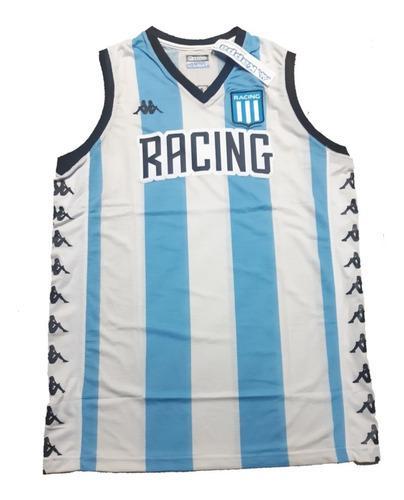 Camiseta musculosa racing club kappa basquet titular 2020