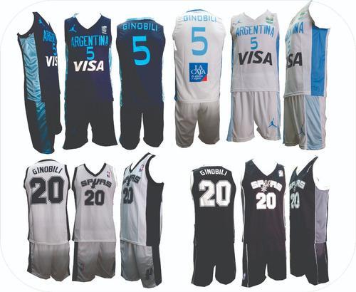 Camisetas de basquet y bermudas todos los talles niño adult