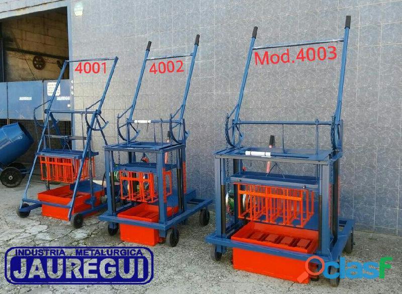 Maquinas Bloqueras, para bloques de arena y cemento. 1