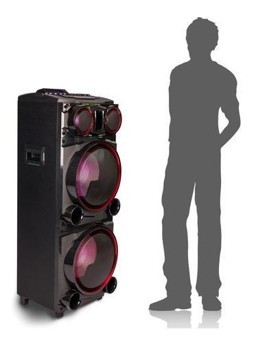 Bafle parlante portatil torre bluetooth luces usb + control