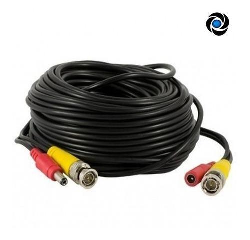 Cable 18mts Cctv Video Bnc + Alimentacion Energia Plug