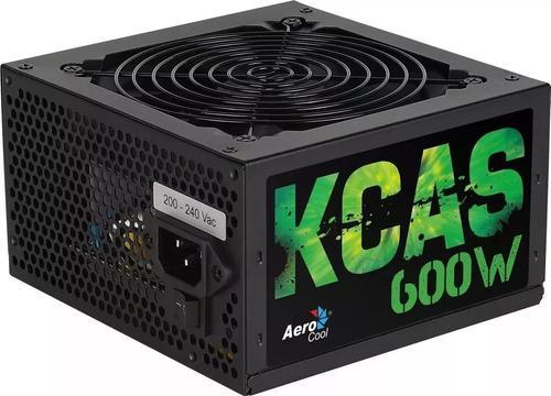 Fuente Aerocool Gamer 600w Kcas-600w 80+ Bronce Certificada