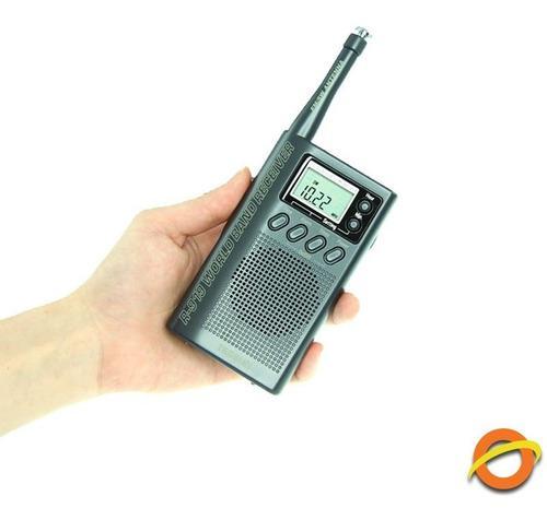 Radio portatil sintonizador multibanda am fm onda corta